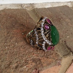Jewelry - Elegant Handcrafted Ruby Emerald.