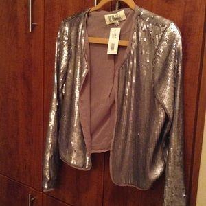 BB Dakota Jackets & Blazers - Grey and a Silver BB Dakota Sequin Jacket