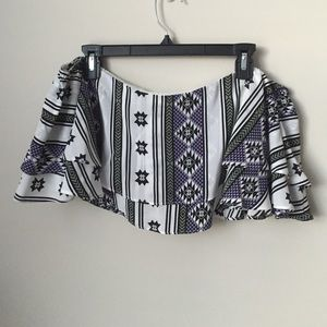 Viva Aviva  Tops - Printed Silk crop top
