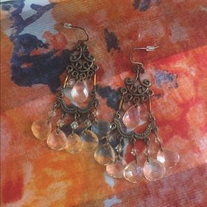Jewelry - CHAMPAGNE CHANDELIER EARRINGS