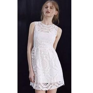 NWT S Urban Outfitters White Crochet Dress