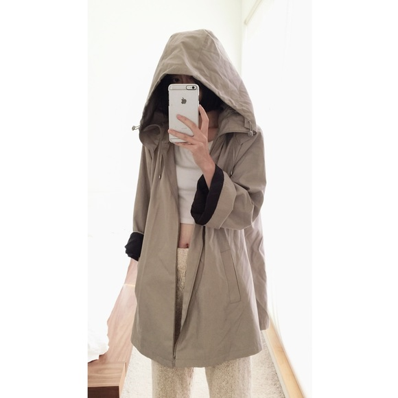 shop for official hot-selling newest first look Calvin Klein CK trench coat with oversized hood
