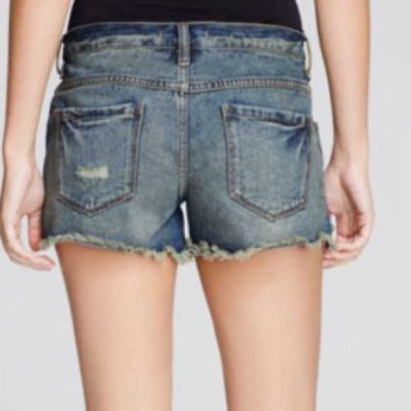 Free People Shorts - FREE PEOPLE Jillian Blue Shorts