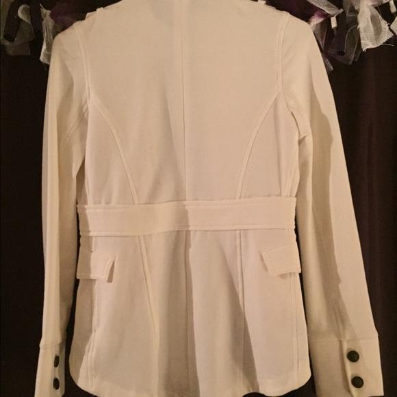 53% off Express Jackets & Blazers - Express White Military Jacket ...