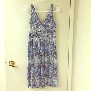Blue patterned Merona dress