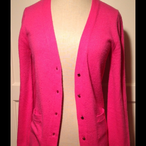 J. Crew - Hot Pink Long Cardigan from Alexis's closet on Poshmark