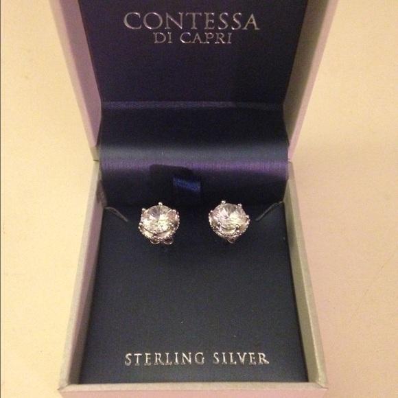 8486bd97b Contessa Di Capri Jewelry - Contessa Di Capri Sterling Silver Earrings