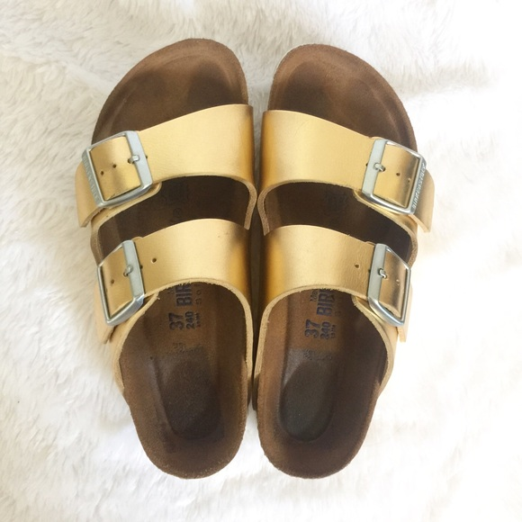 815cfbe4a82 Birkenstock Shoes - Limited Edition Gold Arizona Birkenstocks