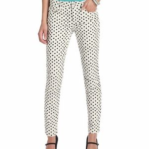 LOFT Denim - NWT Loft Crosshatch Polka Dot White Black Jeans 27