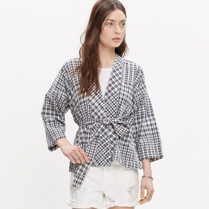 Madewell Tops - NWT Madewell Kimono Jacket in Gingham Ikat - Small