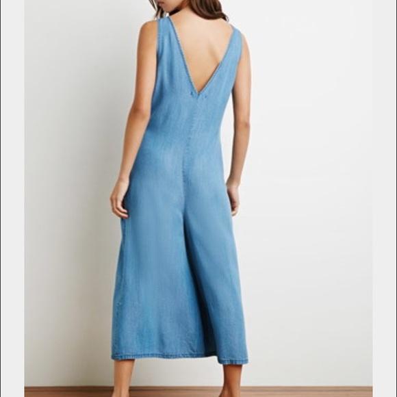 Forever 21 Jeans - Denim Culottes Jumpsuit