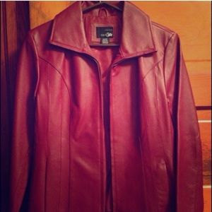 Two easy genuine leather jackets. NWAT