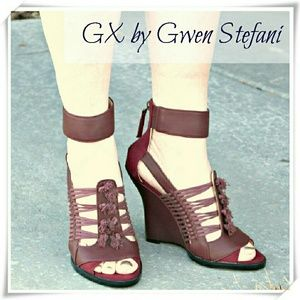 GX by Gwen Stefani Shoes - 👠 GX by Gwen Stefani Ayaka wedge in bordeaux. 💝