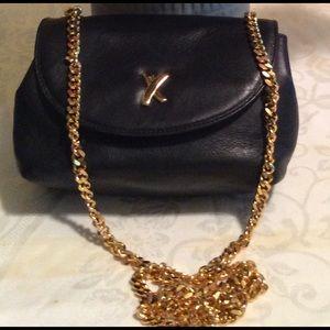 Paloma Picasso black leather purse