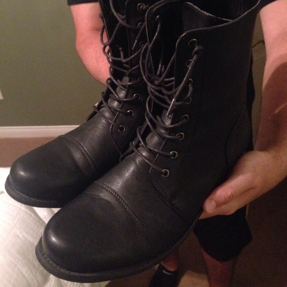 Shoes | Mens Faux Leather Boots | Poshmark