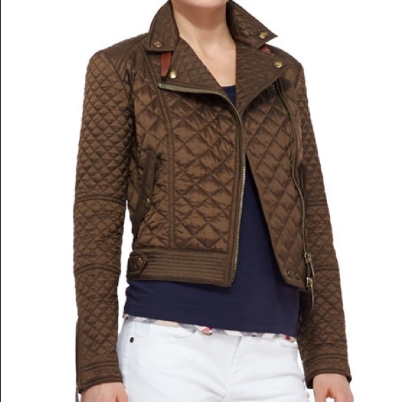a1d63c57ab5ef3 Burberry Jackets & Coats | Brit Quilted Moto Jacket | Poshmark