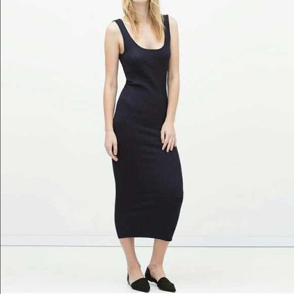70d3b5622f Zara Ribbed Midi Dress NWT