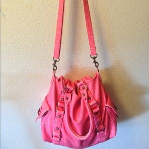 xxxSOLDxxx. Salmon satchel crossbody bag