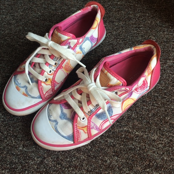 69 coach shoes pink coach sneakers from s
