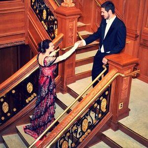 Titanic Rose Dinner Dress replica