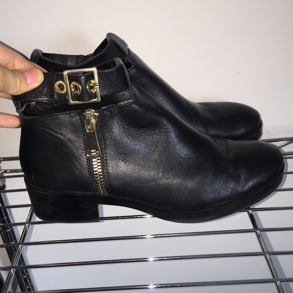 Black leather 'Buckle' ankle boots extremely cheap price excellent cheap online visit new bJqWz