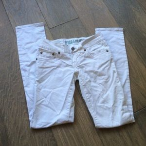 Hydraulic Pants - Hydraulic low rise white jeans. Size 3/4.