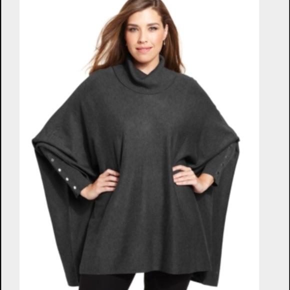 75% off alfani sweaters - alfani plus size long-sleeve poncho