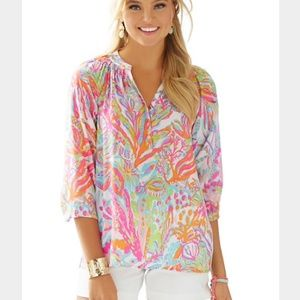 Lilly Pulitzer Tops - ⚡FINAL SALE⚡Lilly Pulitzer Scuba to Cuba top