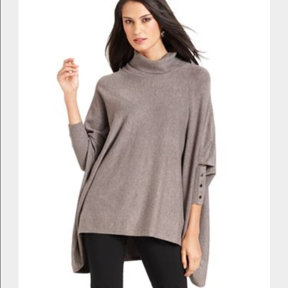 73% off Alfani Sweaters - Alfani Plus Size Long-Sleeve Poncho ...