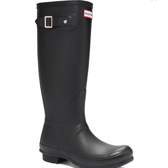 27 off hunter boots boots black matte tall hunter rain