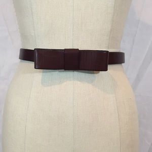 Gap Leather bow front belt - brown