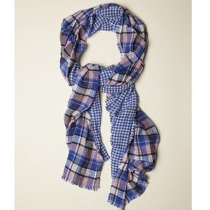 American Colors Accessories - NWOT American Colors Mediterranean Plaid Scarf