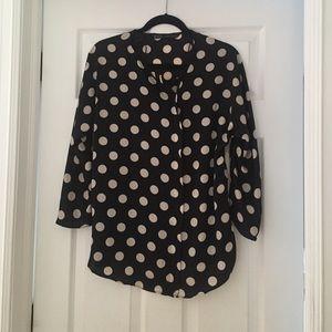 Zara poka-dot blouse