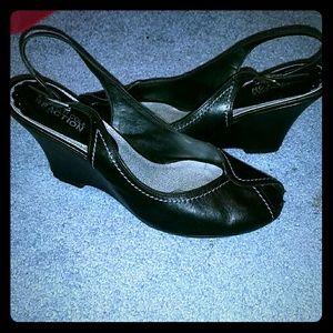 Shoes - Kenneth Cole Reaction Black Dress Wedge sandal sho