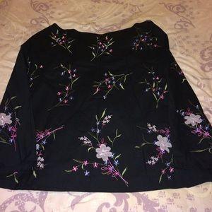 Covington floral a-line skirt