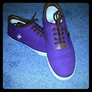 Beverly Hills Polo Club Purple Sneakers Shoes