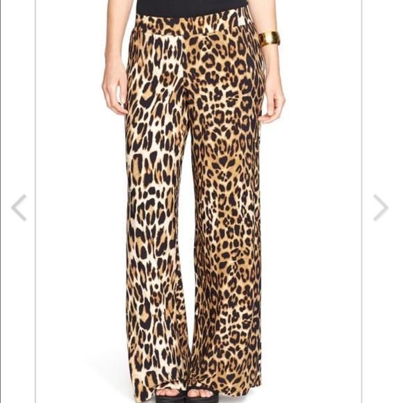 74% off Ralph Lauren Pants - NWT Ralph Lauren Leopard print wide ...
