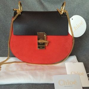 8% off Chloe Handbags - Chloe small Drew bag red and black from ...
