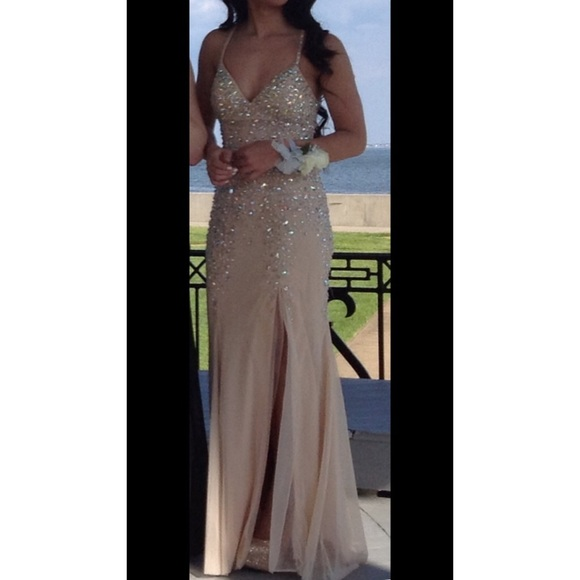Sean Collection Dresses | Stunning Champagne Prom Dress | Poshmark