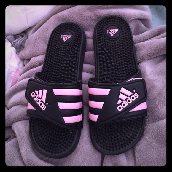 Women's Pink Black Sandals Adidas And Size 7 PZ8knwONX0