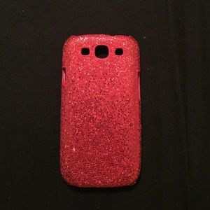 Accessories - Red sparkly Galaxy s3 case