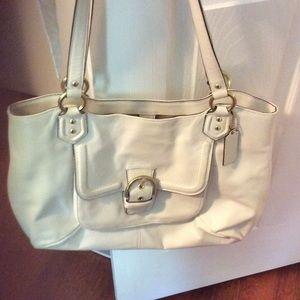 Coach Handbags - Authentic White Coach Handbag