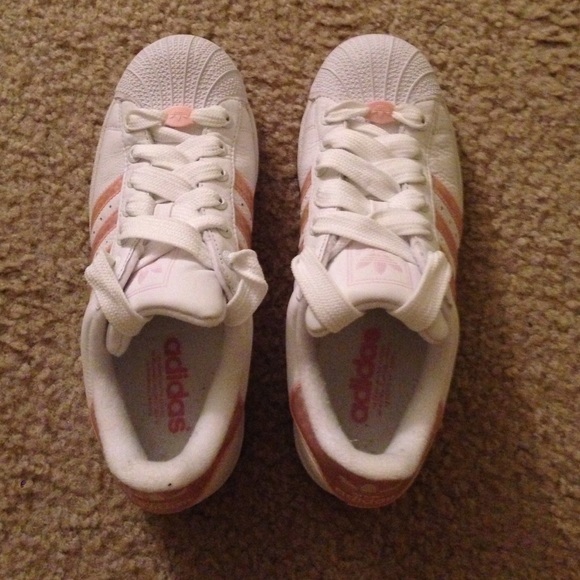 2a8c2e6bf4b25d Adidas Shoes - Adidas Superstar Shell Toe Sneaker Baby Pink White