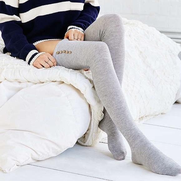cfa5d33fb15 NWT Urban Outfitters Thigh-High Socks in Grey