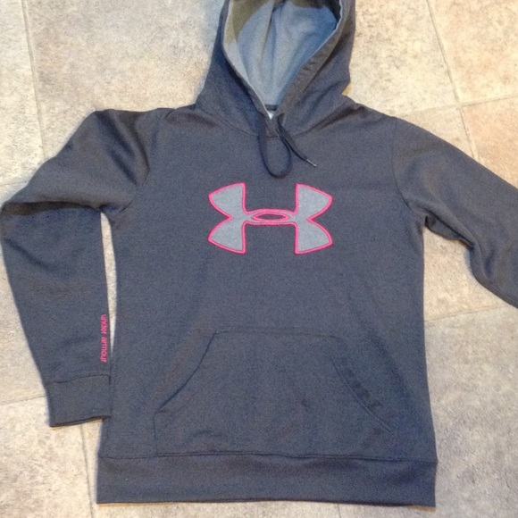 Women s Under Armour Hoodie small gray   hot pink!  M 55ef9b64620ff7eccc025afc d578884e56