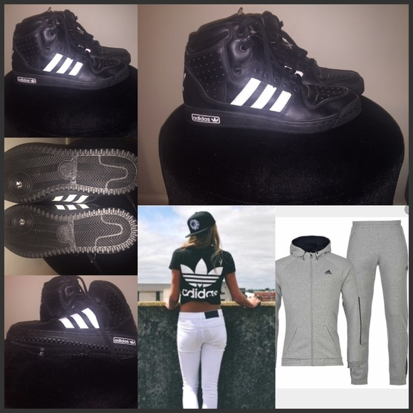 Le Adidas Nuovo Unisex Poshmark Nero Bianco E Alte Poshmark Unisex N 2d01a3