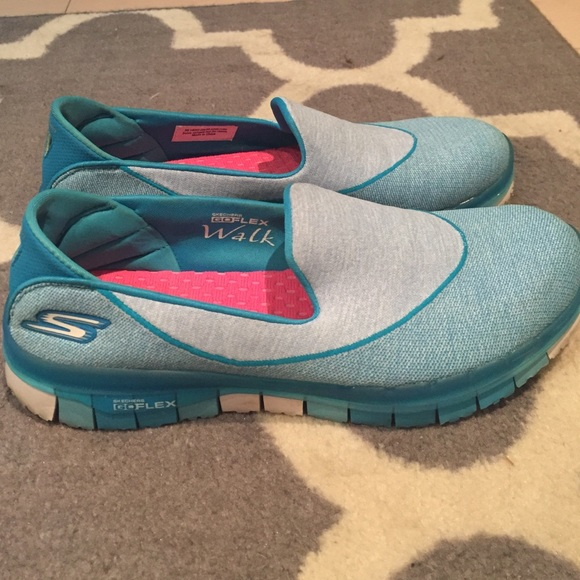 outlet store amazing selection get new Skechers go flex go walk blue