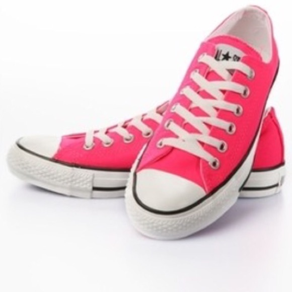 44 Off Converse Shoes Low Top Hot Pink Chucks From