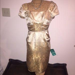 Gold brocade dress