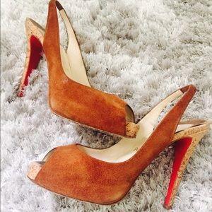 Christian Louboutin Shoes - ❤️SUEDE TREND❤️Christian Louboutin Peep Toe Pumps
